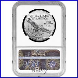 2019 $100 American Platinum Eagle NGC MS70 Brown Label