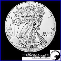2019 1oz American Silver Eagle 1 ounce Silver Bullion Coin unc in CAPSULE
