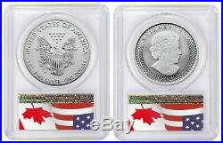 2019 PRIDE OF TWO NATIONS SET PCGS REVERSE PR70 FIRST DAY OF ISSUE FLAG Pop 250