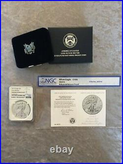 2019 S American Eagle One Ounce Silver Enhanced Reverse Proof Coin NGC PR70