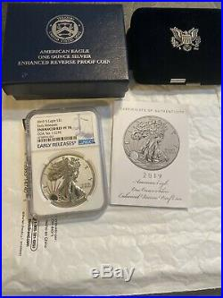 2019-S American Eagle One Ounce Silver Enhanced Reverse Proof Coin PF70 NGC-ER