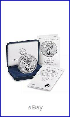 2019 S American Eagle Silver Enhanced Reverse Proof RAREST SILVER EAGEL EVER