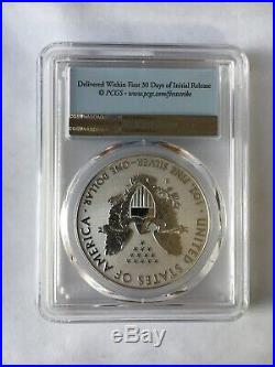 2019 S American Silver Eagle Enhanced Reverse Proof $1 First Strike PR70 With COA