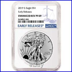 2019-S Enhanced Reverse Proof $1 American Silver Eagle NGC PF69 Blue ER Label