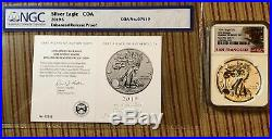 2019 S Enhanced Reverse Proof $1 American Silver Eagle NGC PF70 First Release