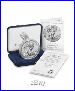 2019 S Enhanced Reverse Proof Silver Eagle With Box And Numbered Coa