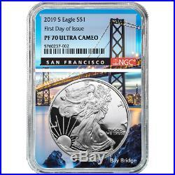 2019-S Proof $1 American Silver Eagle NGC PF70UC FDI San Francisco Core