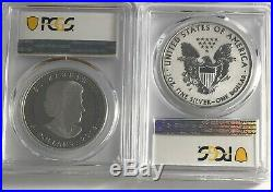 2019 W $1 & $5 Silver Reverse Proof Pcgs Pr70 Fs Pride Of Two Nations 2 Coin Set