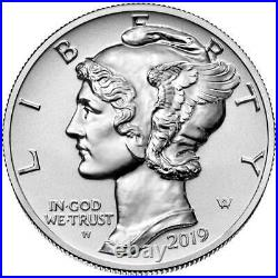 2019-W Reverse Proof $25 American Palladium Eagle 1 oz OGP Box and COA