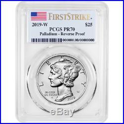2019-W Reverse Proof $25 American Palladium Eagle 1oz. PCGS PR70 FS Flag Label