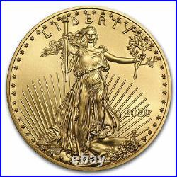2020 1 oz American Gold Eagle $50 US Gold Coin BU