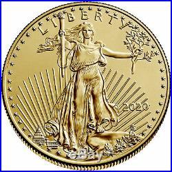 2020 $10 American Gold Eagle 1/4 oz Brilliant Uncirculated