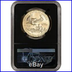 2020 American Gold Eagle 1 oz $50 NGC MS70 First Day of Issue Grade 70 Black