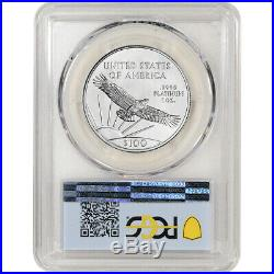 2020 American Platinum Eagle 1 oz $100 PCGS MS70 First Day Issue Flag Label