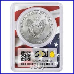 2020 (P) $1 American Silver Eagle PCGS MS70 Emergency Production FDOI Trump 45th