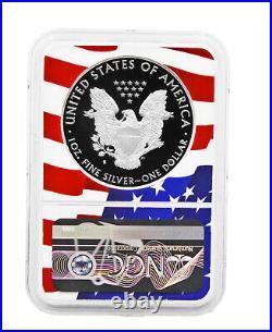 2020-S Proof $1 American Silver Eagle NGC PF70 Ultra Cameo FDOR Flag Core