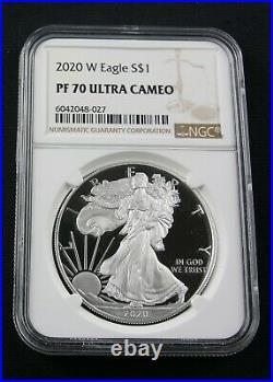 2020 W American Silver Eagle Ngc Pf 70