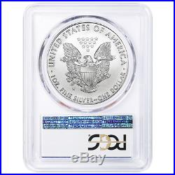 2020-W Burnished $1 American Silver Eagle PCGS SP70 Blue Label