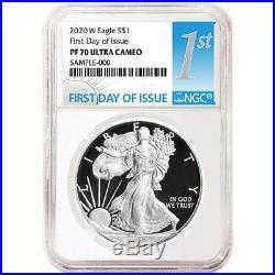 2020-W Proof $1 American Silver Eagle NGC PF70UC FDI First Label