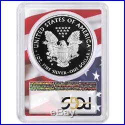 2020-W Proof $1 American Silver Eagle PCGS PR70DCAM FDOI Flag Frame