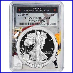 2020-W Proof $1 American Silver Eagle PCGS PR70DCAM West Point Frame