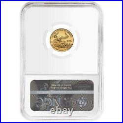 2021 $5 Type 1 American Gold Eagle 1/10 oz NGC MS70 ALS Label
