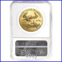 2021 $50 American Gold Eagle 1 oz. NGC MS70 Blue ER Label