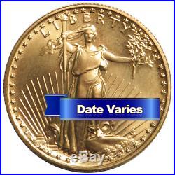 $25 American Gold Eagle 1/2 oz Random Year Brilliant Uncirculated