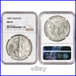 34-pc. 1986 2019 American Silver Eagle Complete Date Set NGC MS69 Large Label