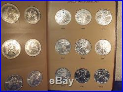 Complete Set Hand-selected 34 Silver Eagle Coins In New Dansco Album 1986-2019
