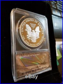 Extremely Rare 2016 W Silver Eagle Congratulations Set ANACS PR70 30TH Ann