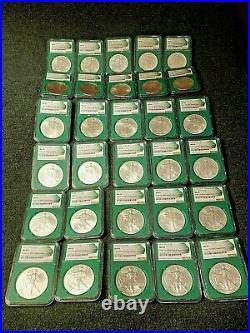 Green Mint Sealed Box Silver Eagle Set 1986-2016 NGC MS69. Shipped in green NG