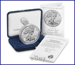 In Stock 2019 S Enhanced Reverse Proof Silver Eagle With Box And Numbered Coa
