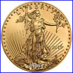 Lot of 10 2019 $5 American Gold Eagle 1/10 oz Brilliant Uncirculated
