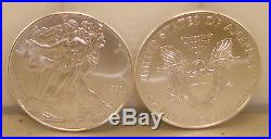 Lot of (100) 2018 1 oz. 999 Fine American Silver Eagle Bullion Coins