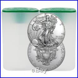 Lot of 40 2018 $1 American Silver Eagle 1 oz BU 2 Full Rolls
