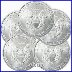 Lot of 5 2011 American Eagle Coins 1 oz. 999 Fine Silver IN STOCK