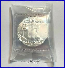 Lot of 5 BU 1 oz Silver 2014 American Eagles, 1 oz Coins. 999 Fine Silver