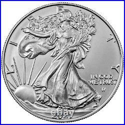 Lot of 60 2021 $1 Type 2 American Silver Eagle 1oz BU 3 Full Rolls