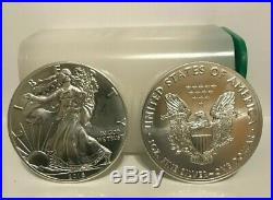 One uncirc mint roll of 20- 2016 American Eagles 1 oz silver coins. No spots
