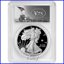 Presale 2020-W Proof $1 American Silver Eagle WWII 75th PCGS PR69DCAM FS V75 L