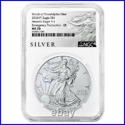 Presale 2021 (P) $1 American Silver Eagle NGC MS70 Emergency Production ALS ER