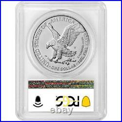Presale 2021-W Burnished $1 Type 2 American Silver Eagle PCGS SP70 FDOI Flag L