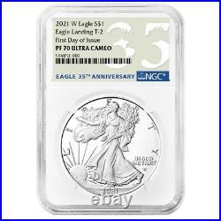 Presale 2021-W Proof $1 Type 2 American Silver Eagle NGC PF70UC FDI 35th Anniv
