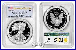Presale 2021 W Proof Silver Eagle Pcgs Pr70 Dcam Advanced Release Flag Label