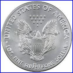 Roll of 20 2016 1 oz. 999 Fine American Silver Eagle BU Coin SKU38287