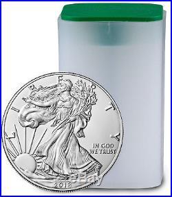 Roll of 20 Coins 2018 American Silver Eagle $1 GEM BU Coin DELAYED SKU51559
