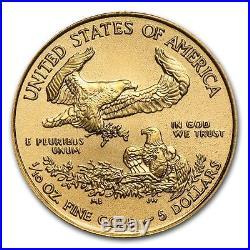 (lot Of 10 For One Bid) Ch/gem Bu 2018 1/10th Oz. $5 American Eagle Gold Coin